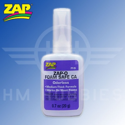 Zap-a Gap Odourless Foam Safe Medium Cyanoacrylate Glue (CA) 20g Bottle