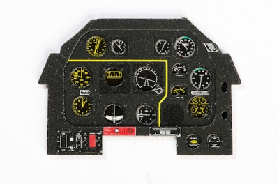 P-51D Mustang IV Coloured Photoetch Instrument Panels - ''JustStick'' Ready to fit (designed for Tamiya kits) 1:32 Yahu Models
