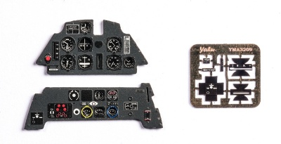 Me Bf109E Coloured Photoetch Instrument Panels - ''JustStick'' Ready to fit (designed for Eduard kits) 1:32 Yahu Models