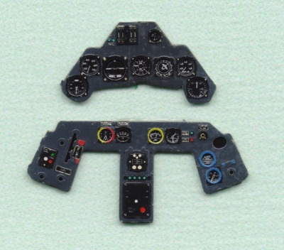 Fw 190A late Coloured Photoetch Instrument Panels - ''JustStick'' Ready to fit (designed for Hasegawa kits) 1:48 Yahu Models