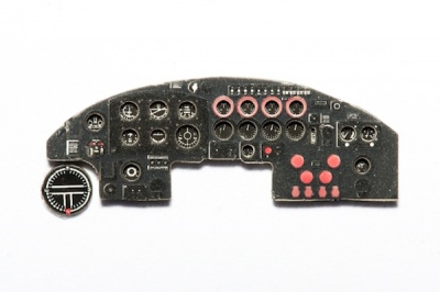 Avro Lancaster Coloured Photoetch Instrument Panels - ''JustStick'' Ready to fit (designed for Airfix / Revell kits) 1:72 Yahu Models