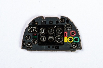 Spitfire I Coloured Photoetch Instrument Panels - ''JustStick'' Ready to fit (designed for Tamyia / Airfix kits) 1:72 Yahu Models