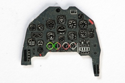 Ju-87 B-2 Coloured Photoetch Instrument Panels - ''JustStick'' Ready to fit (designed for Zvezda kits) 1:72 Yahu Models
