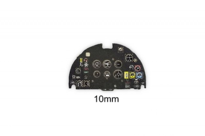 Spitfire XIV Coloured Photoetch Instrument Panels - ''JustStick'' Ready to fit (designed for Sword kits) 1:72 Yahu Models