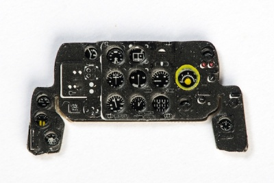 Lavochkin La-7 Coloured Photoetch Instrument Panels - ''JustStick'' Ready to fit (designed for Eduard kits) 1:72 Yahu Models