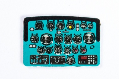 Mil Mi-2 Coloured Photoetch Instrument Panels - ''JustStick'' Ready to fit (designed for Plastyk / Mastercraft kits) 1:72 Yahu Models