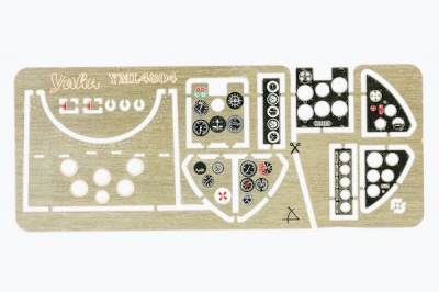 I.A.R. 80 late Coloured Photoetch Instrument Panels (designed for Hobby Boss kits) 1:48 Yahu Models