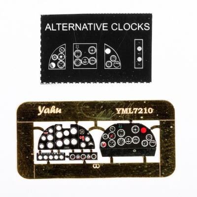 IAR-81 Coloured Photoetch Instrument Panels (designed for A-model / Parc Model kits) 1:72 Yahu Models