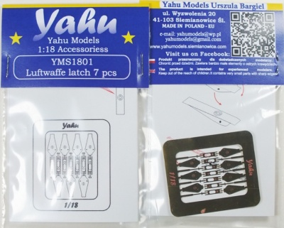 Luftwaffe Latches Photoetch Accessory Set 1:18 Yahu Models