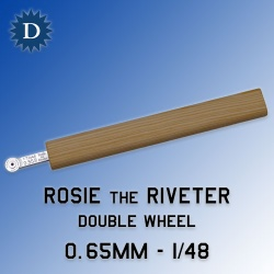 Rosie the Riveter 0.65mm Double Wheel (1/48) Dousek