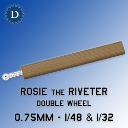 Rosie the Riveter 0.75mm Double Wheel (1/48 & 1/32) Dousek