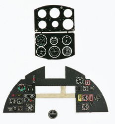 Typhoon early Coloured Photoetch Instrument Panels - ''JustStick'' Ready to fit (designed for Airfix kits) 1:24 Yahu Models