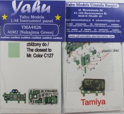 A6M2 (Nakajima Green) Coloured Photoetch Instrument Panels - ''JustStick'' Ready to fit (designed for Tamyia kits) 1:48 Yahu Models