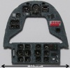 MB.152 Coloured Photoetch Instrument Panels - ''JustStick'' Ready to fit (designed for RS / Heller kits) 1:72 Yahu Models