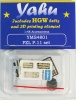 PZL P.11 / PZL P.24 Set Photoetch Accessory Set Includes HGW Seatbelts (designed for Mirage kits) 1:48 Yahu Models