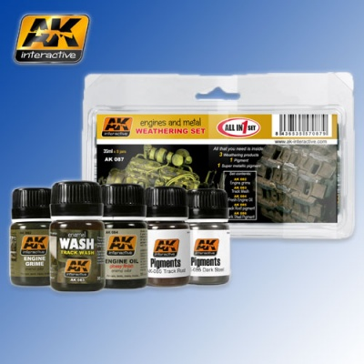 Engines and Metal Weathering Set AK Interactive