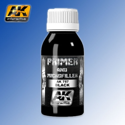Black Primer and Microfiller 100ml AK Interactive