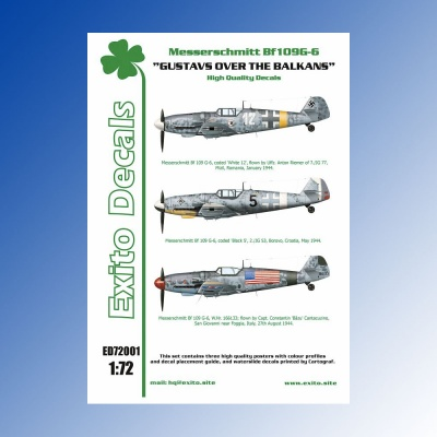 ED72001 - 1:72 Gustavs Over The Balkans - Messerschmitt Bf109G-6 EXITO DECALS
