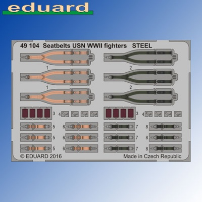 STEEL Seatbelts USN WWII Fighters 1:48 Eduard Photoetch