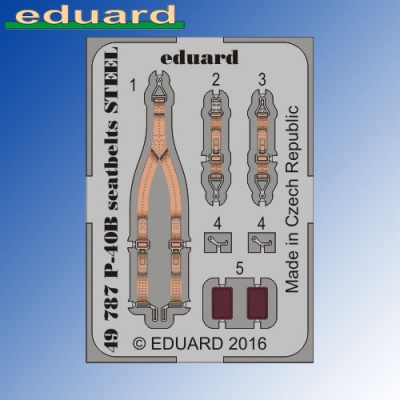 P-40B Tomahawk STEEL Seatbelts Airfix 1:48 Eduard Photoetch