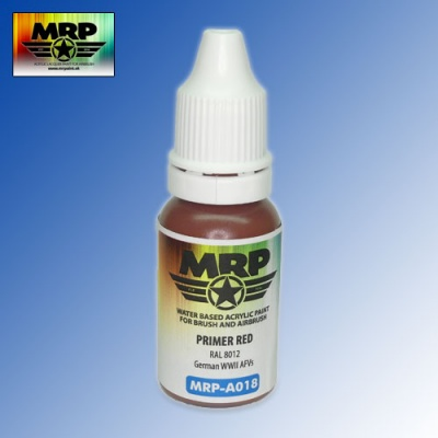 MRP-A018 Primer Red RAL8012 AQUA 17ml