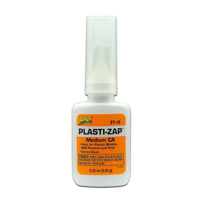 Zap-a Gap Plasti-Zap Medium CA (Cyanoacrylate Glue) 9.35g Bottle