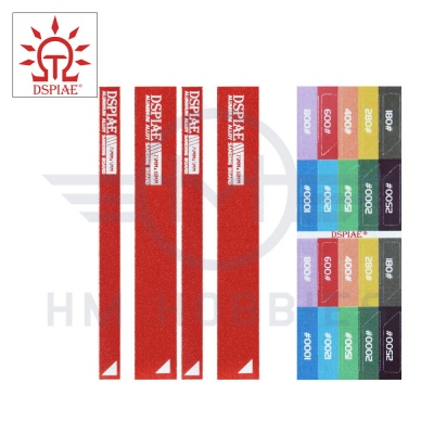 Aluminium Small Sanding Board Set with Stickers Red DSPIAE