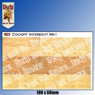 Woodgrain Decal Uniscale - Interior Textures Mini Sheet Uschi van der Rosten