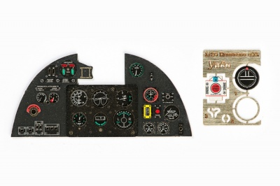 Hurricane Mk II Coloured Photoetch Instrument Panels - ''JustStick'' Ready to fit (designed for Trumpeter kits) 1:24 Yahu Models