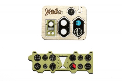 A6M2 Zero (Nakajima Green) Coloured Photoetch Instrument Panels - ''JustStick'' Ready to fit (designed for Trumpeter kits) 1:24 Yahu Models