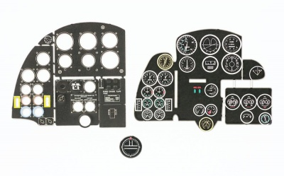 Mosquito NF.II / FB VI Coloured Photoetch Instrument Panels - ''JustStick'' Ready to fit (designed for Airfix kits) 1:24 Yahu Models