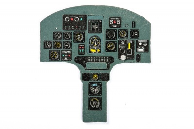 Dewoitine 520 Coloured Photoetch Instrument Panels - ''JustStick'' Ready to fit (designed for Azur kits) 1:32 Yahu Models