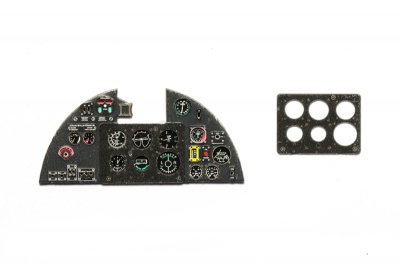 Hurricane Mk II Coloured Photoetch Instrument Panels - ''JustStick'' Ready to fit (designed for Fly kits) 1:32 Yahu Models