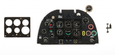 Spitfire Mk V late Coloured Photoetch Instrument Panels - ''JustStick'' Ready to fit (designed for Hobby Boss kits) 1:32 Yahu Models