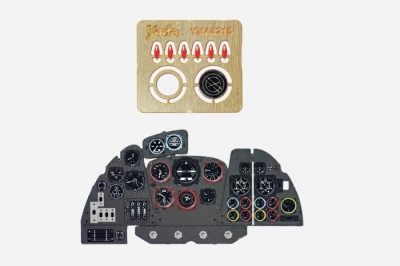 Dornier Do 335 Coloured Photoetch Instrument Panels - ''JustStick'' Ready to fit (designed for HKM kits) 1:32 Yahu Models