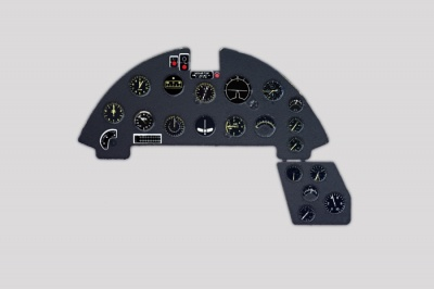F4U-1A Corsair Coloured Photoetch Instrument Panels - ''JustStick'' Ready to fit (designed for Tamiya kits) 1:32 Yahu Models