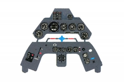 Fw190 D-9 Coloured Photoetch Instrument Panels - ''JustStick'' Ready to fit (designed for Hasegawa kits) 1:32 Yahu Models