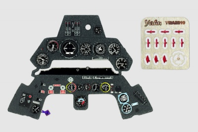 Ta-152 H Coloured Photoetch Instrument Panels - ''JustStick'' Ready to fit (designed for Zoukei Mura kits) 1:32 Yahu Models