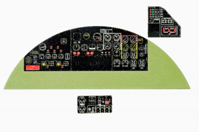 B-17 E/F Flying Fortress Coloured Photoetch Instrument Panels - ''JustStick'' Ready to fit (designed for HKM kits) 1:32 Yahu Models