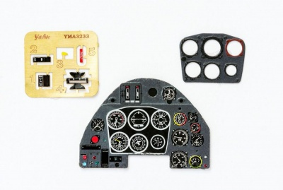 Me 109 K Coloured Photoetch Instrument Panels - ''JustStick'' Ready to fit (designed for Trumpeter kits) 1:32 Yahu Models