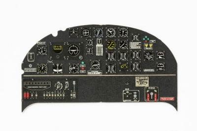 B-25 J Coloured Photoetch Instrument Panels - ''JustStick'' Ready to fit (designed for HKM kits) 1:32 Yahu Models