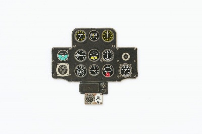 I-153 Chaika Coloured Photoetch Instrument Panels - ''JustStick'' Ready to fit (designed for ICM kits) 1:32 Yahu Models