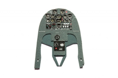 Caudron C.714 Cyclone Coloured Photoetch Instrument Panels - ''JustStick'' Ready to fit (designed for RS kits) 1:48 Yahu Models