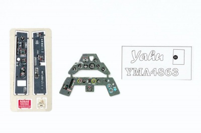Fw-190A-3 Coloured Photoetch Instrument Panels - ''JustStick'' Ready to fit (designed for Eduard (2017) kits) 1:48 Yahu Models