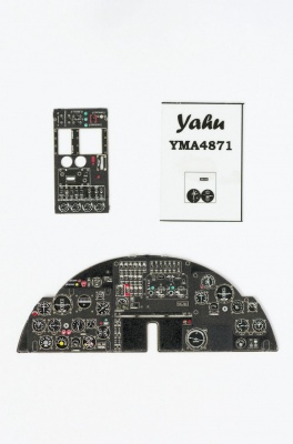 An-2 Coloured Photoetch Instrument Panels - ''JustStick'' Ready to fit (designed for Hobby Boss kits) 1:48 Yahu Models