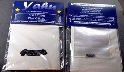CR.32 Coloured Photoetch Instrument Panels - ''JustStick'' Ready to fit (designed for Italeri kits) 1:72 Yahu Models