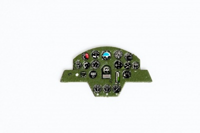 C5M / Ki-15 Babs Coloured Photoetch Instrument Panels - ''JustStick'' Ready to fit (designed for LS-ARII kits) 1:72 Yahu Models