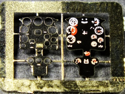 Ki-44 Tojo Coloured Photoetch Instrument Panels (designed for Sword / Hasegawa kits) 1:72 Yahu Models