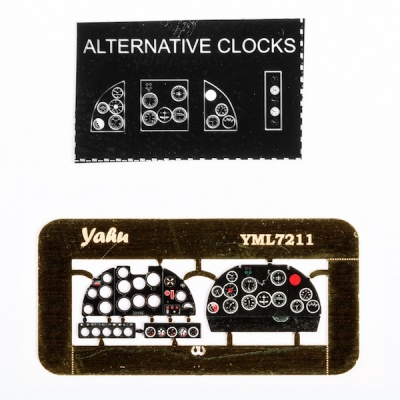 IAR-81 bomb version Coloured Photoetch Instrument Panels (designed for A-model / Parc Model kits) 1:72 Yahu Models