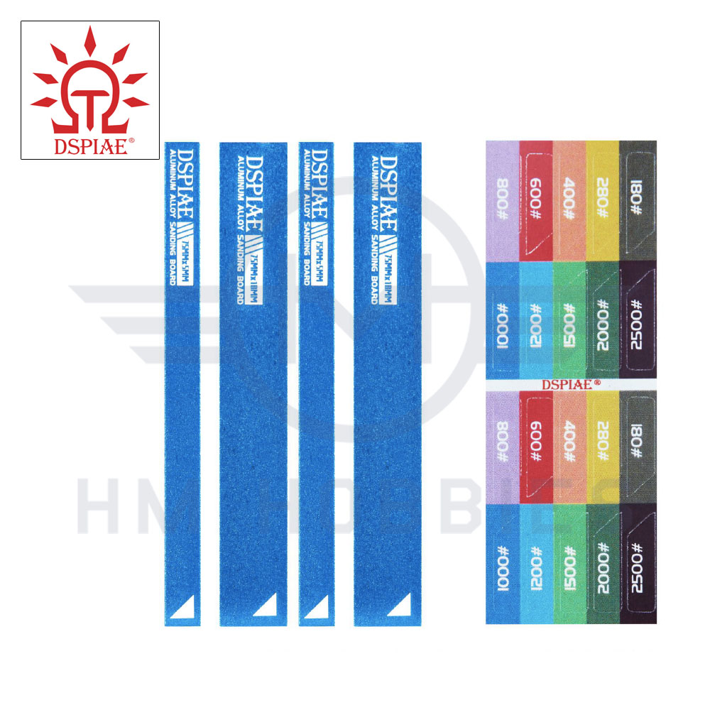 Aluminium Small Sanding Board Set with Stickers Blue DSPIAE